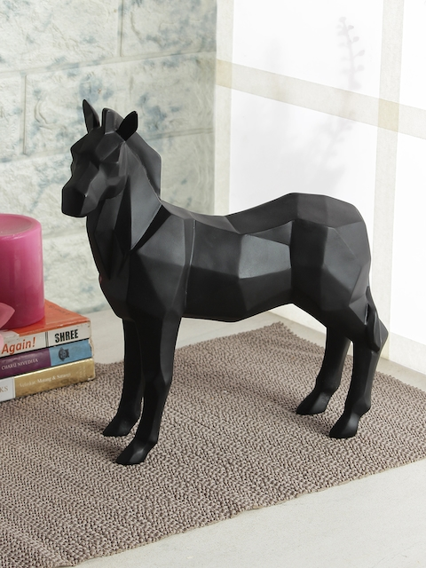 India Circus by Krsnaa Mehta Black Solid Stallion Figurine