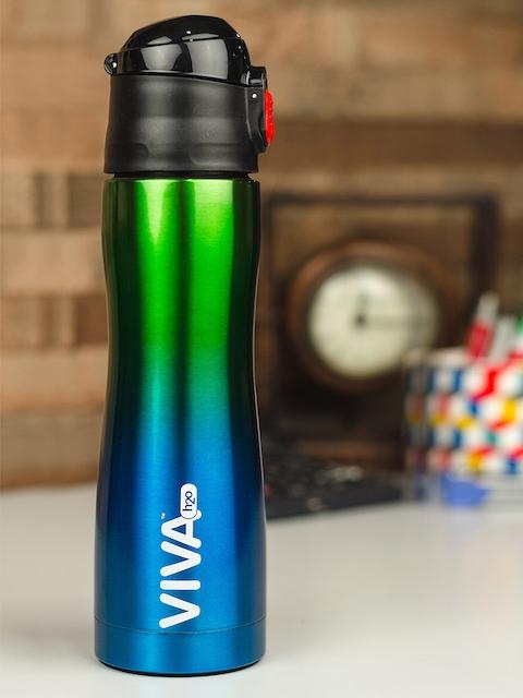 VIVA h2o Blue & Green Textured Stainless Steel Water Bottle