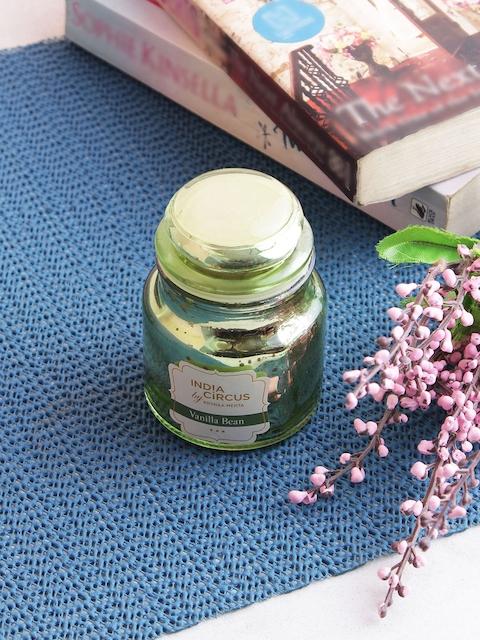 India Circus by Krsnaa Mehta Olive Green Vanilla Bean Jar Candle