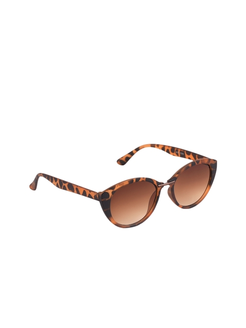 6by6 Women Brown Cateye Sunglasses 6B6SG2097R