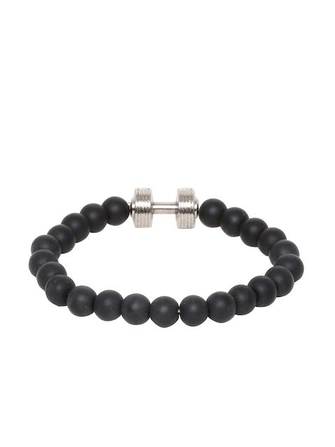 Dare by Voylla Black Beaded Elasticated Bracelet