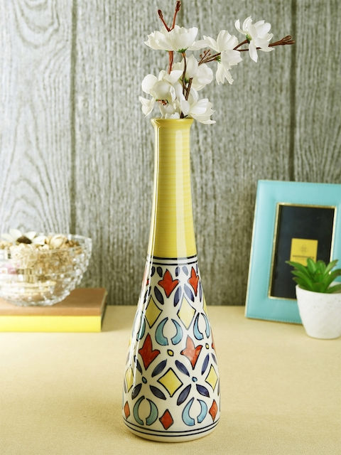 VarEesha Multicoloured Handcrafted Ceramic Vase
