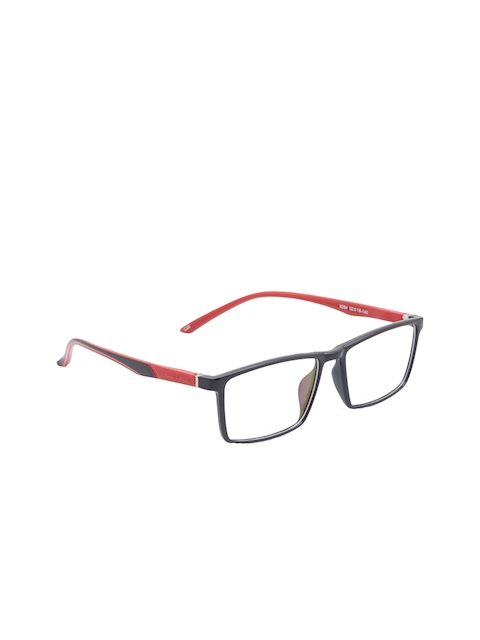 VAST Unisex Black & Red Colourblocked Full Rim Rectangle Frames ANTIGLARE_SPRING_8294
