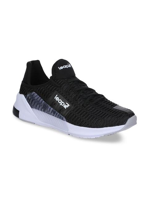 Liberty Men Black Mesh Running Shoes