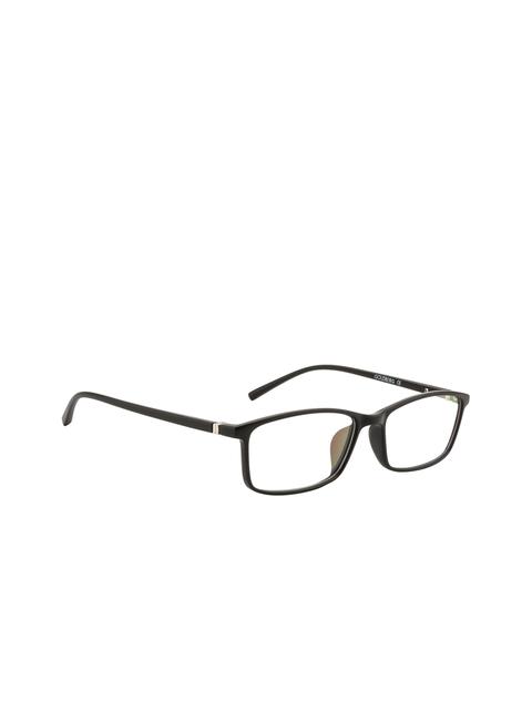 Gold Berg Unisex Black Solid Full Rim Rectangle Frames