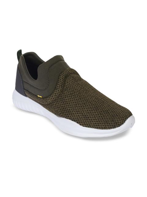 Force 10 Men Olive Brown Mesh Running Shoes