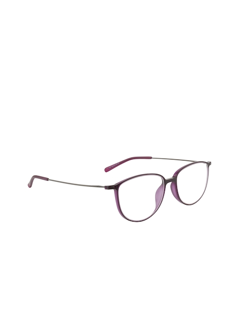 Ted Smith Unisex Purple Solid Full Rim Oval Frames TS-214_C4