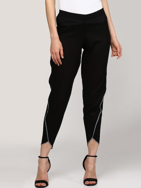 SASSAFRAS Women Black Regular Fit Solid Jodhpuris