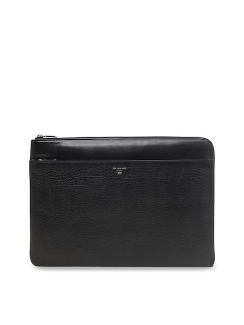 Da Milano Unisex Black Solid Laptop Sleeve