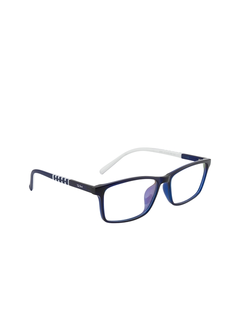 Ted Smith Unisex Blue Solid Full Rim Rectangle Frames TS-199_C4