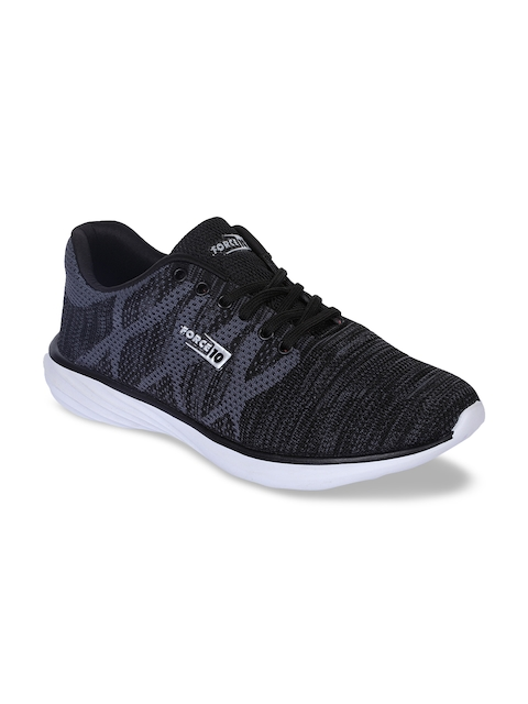 Force 10 Men Black Synthetic Running Shoes