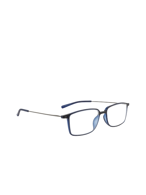 Ted Smith Unisex Blue Solid Full Rim Rectangle Frames TS-224_C4