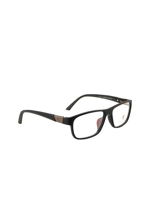 Ted Smith Unisex Black Solid Full Rim Rectangle Frames 227_NGI20