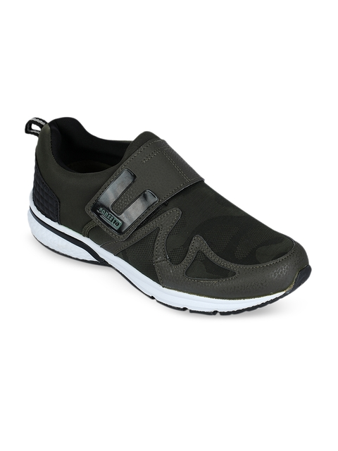 Force 10 Men Olive Green Synthetic Running Shoes