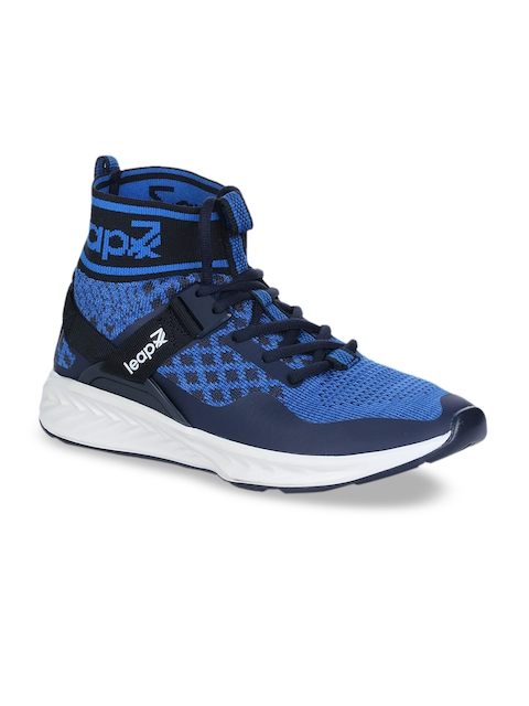Liberty Men Blue Synthetic Mid-Top Running Shoes