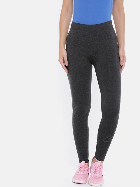 4F Women Dark Grey Melange Solid Ankle-Length Leggings