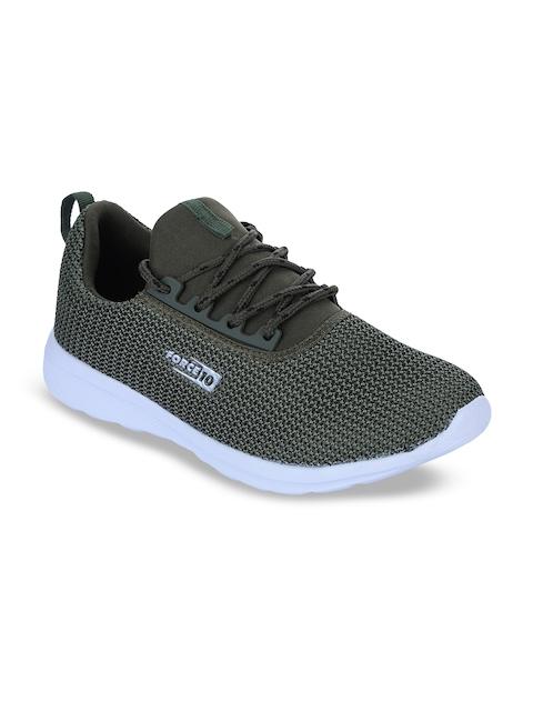 Force 10 Men Olive Green Running Shoes
