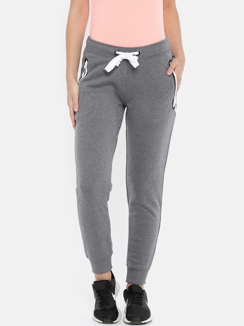 4F Women Grey Solid Straight-Fit Joggers