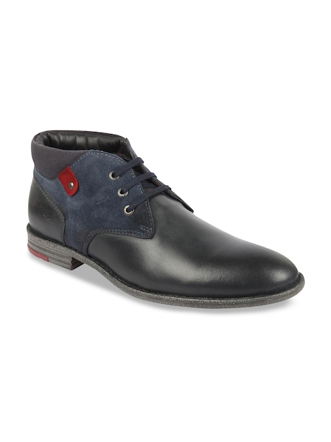 Lee Cooper Men Blue Flat Boots