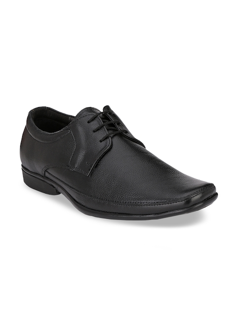 Hi RELs Men Black Leather Formal Derby