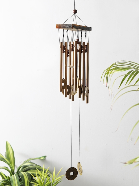 HOME DECOR INDIA Gold-Toned & Brown Decorative Windchime