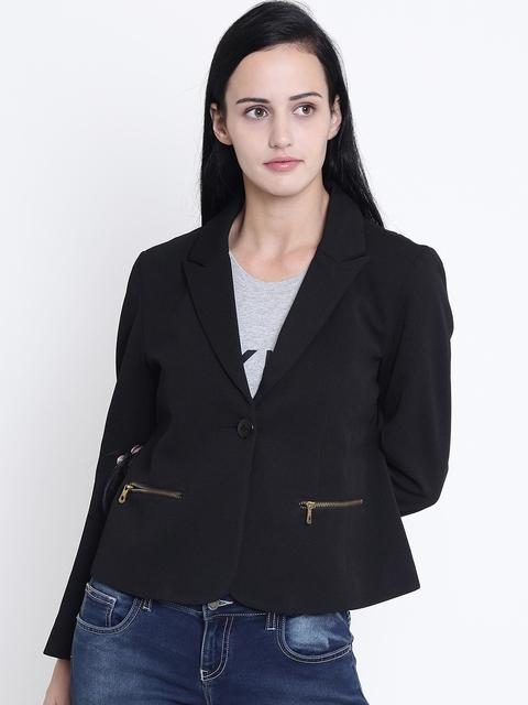 Crimsoune Club Women Black Solid Jacket