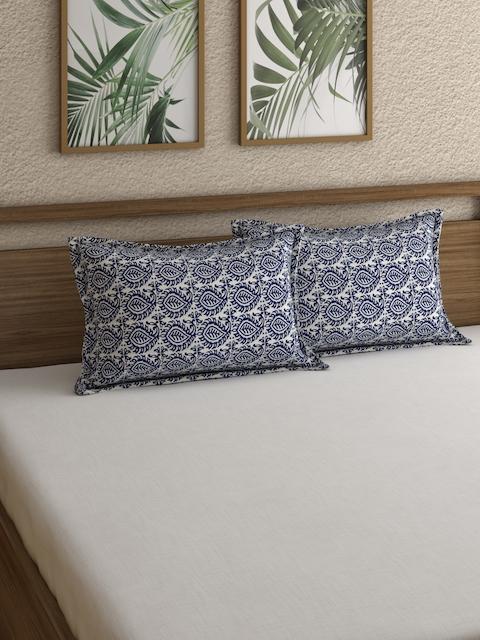 Rajasthan Decor Set of 2 Screen Print Pillow Cover