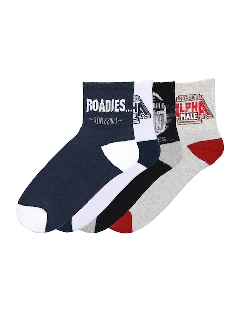 Supersox Men Pack of 4 Multicoloured Printed Ankle-Length Socks