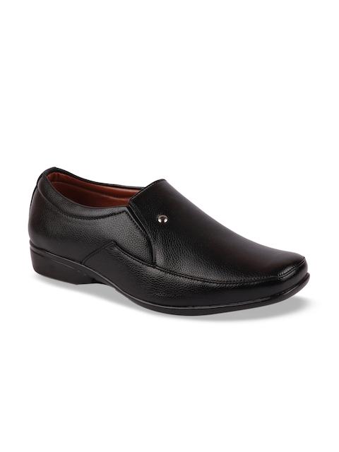 FAUSTO Men Black Semiformal Slip-Ons