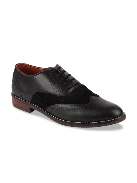 FAUSTO Men Coffee Brown Leather Formal Brogues