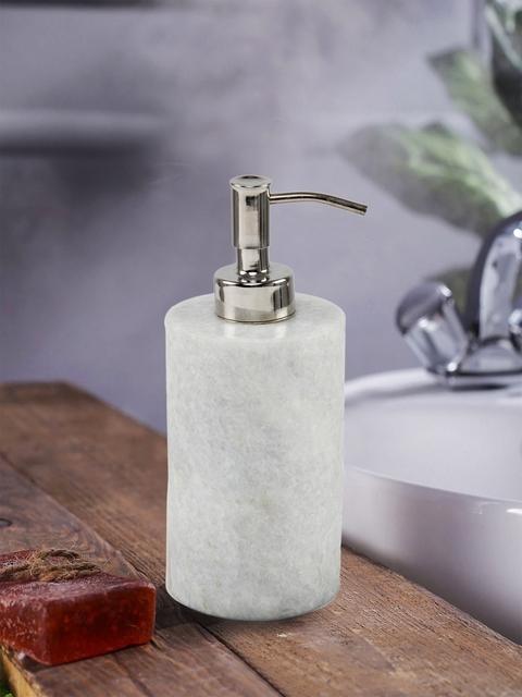 SWHF White Handmade Marble Liquid Soap Dispenser