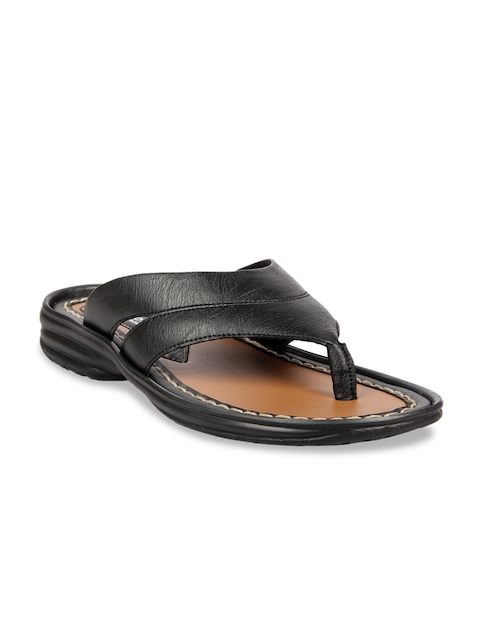Franco Leone Men Black Comfort Sandals