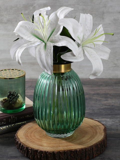 Pure Home and Living Green Glass Vase