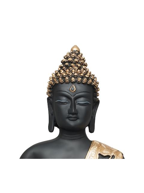 Living Essence Black Naqsh Budha Bust Showpiece