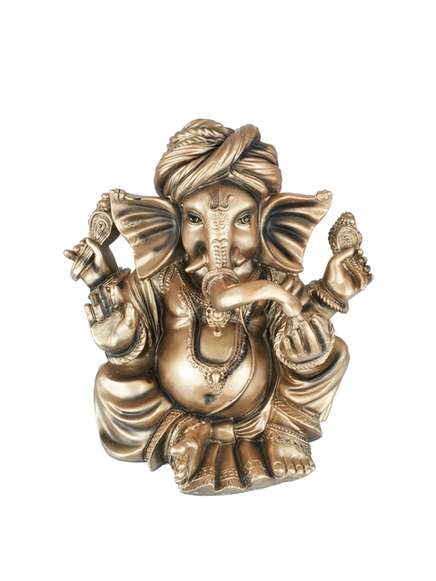Living Essence Gold-Toned Lord Ganesha Showpiece