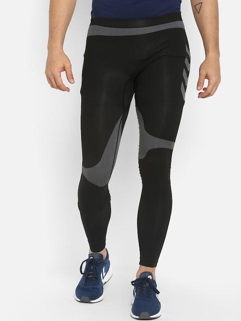 Hummel Men Black Solid Skinny-Fit Tights