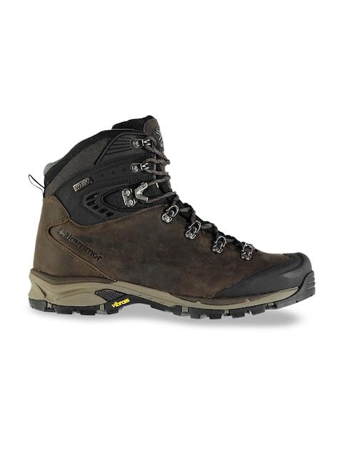 Karrimor Men Brown Leather Mid-Top Trekking Shoes