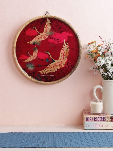 India Circus by Krsnaa Mehta Pink Wall Hanging