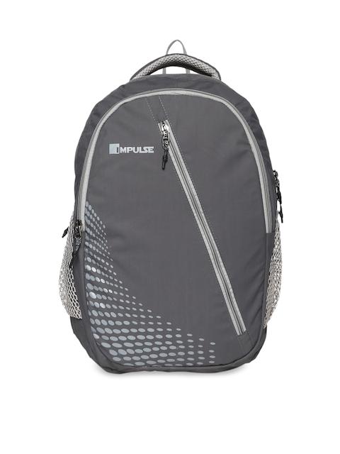 Impulse Unisex Grey Backpack with duraBase Technology