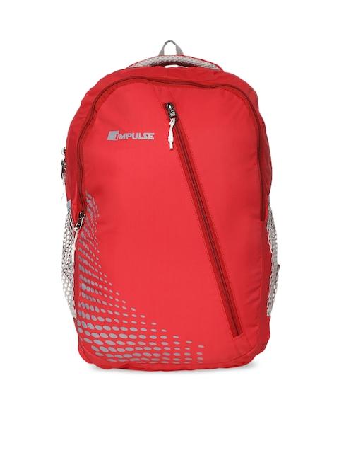 Impulse Unisex Red & Grey Backpack with duraBase Technology