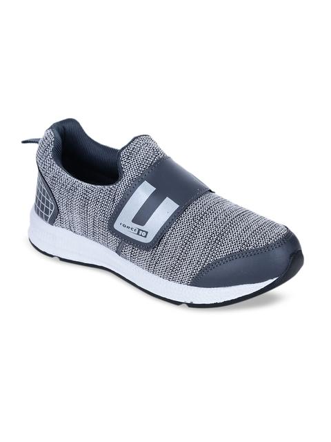 Force 10 Men Grey Running Shoes