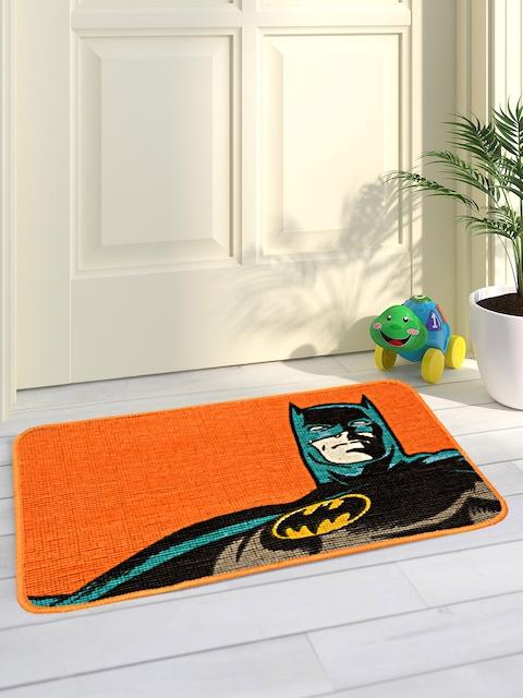Saral Home Orange Batman Printed Jute-Cotton Anti-Skid Doormat