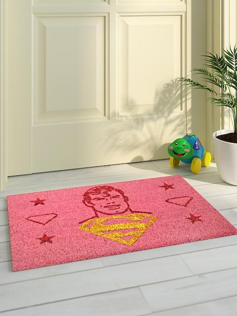 Saral Home Pink Printed Coir Anti-Skid Doormat