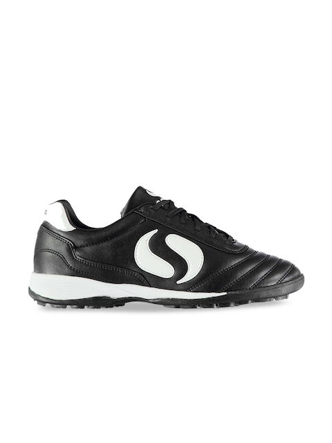 Sondico Men Black Synthetic Strike Astro Football Shoes