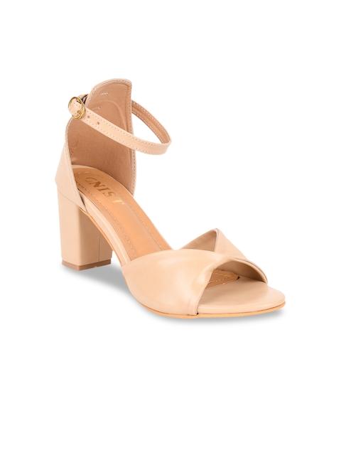 GNIST Women Beige Solid Sandals