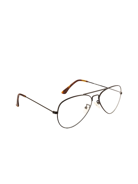 Ted Smith Unisex Transparent Solid Full Rim Aviator Frames TS-252_C1