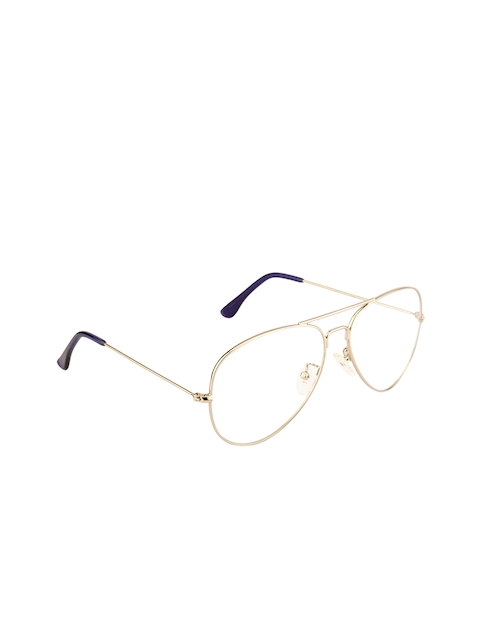 Ted Smith Unisex Transparent Solid Full Rim Aviator Frames TS-253_C4