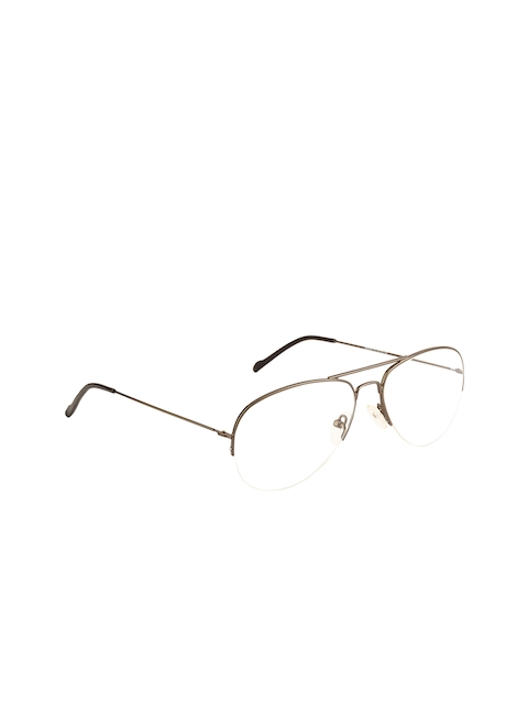 Ted Smith Unisex Transparent Solid Half Rim Aviator Frames TS-251_C2