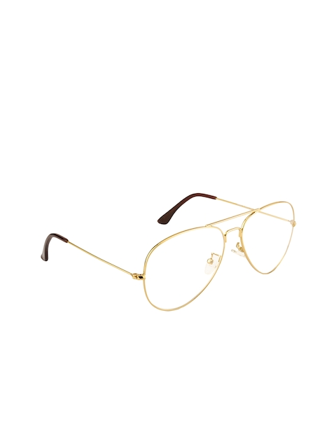 Ted Smith Unisex Transparent Solid Full Rim Aviator Frames TS-253_C3