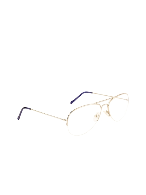 Ted Smith Unisex Transparent Solid Half Rim Aviator Frames TS-251_C4